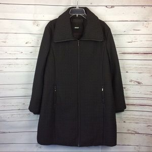 DKNY Brown Quilted Coat, Size XL